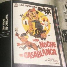 Cine: 'UNA NOCHE EN CASABLANCA', CON LOS HERMANOS MARX. FICHA COLECCIONABLE DE REVISTA DIARIO 16.. Lote 85266692