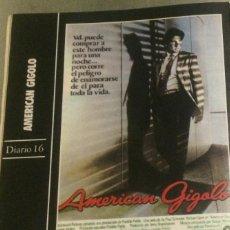 Cine: 'AMERICAN GIGOLÓ', CON RICHARD GERE. FICHA COLECCIONABLE DE REVISTA DIARIO 16.. Lote 85300836