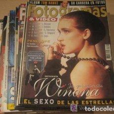 Cine: REVISTA FOTOGRAMAS Y VIDEO, COLECCION,TODOS LOS NUMEROS CONSECUTIVOS,DE 1990 A 2001.12 AÑOS DE CINE. Lote 85467028