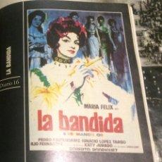 Cine: 'LA BANDIDA', CON MARÍA FÉLIX. FICHA COLECCIONABLE DE REVISTA DIARIO 16.. Lote 85572796