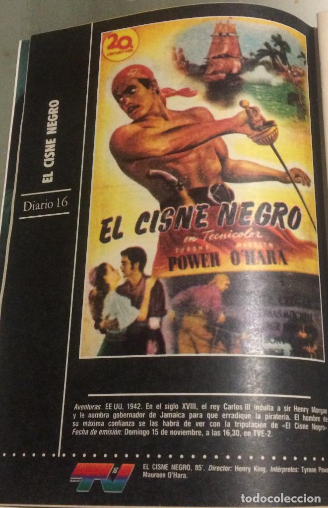 'EL CISNE NEGRO', CON TYRONE POWER. FICHA COLECCIONABLE DE REVISTA DIARIO 16. (Cine - Reproducciones de carteles, folletos...)