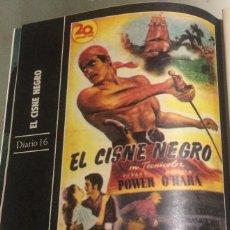 Cine: 'EL CISNE NEGRO', CON TYRONE POWER. FICHA COLECCIONABLE DE REVISTA DIARIO 16.. Lote 85575204