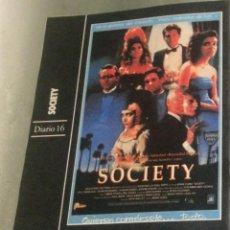 Cine: 'SOCIETY', DE BRIAN YUZNA. TERROR. FICHA COLECCIONABLE DE REVISTA DIARIO 16.. Lote 85623700