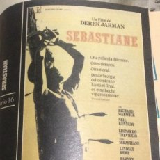 Cine: 'SEBASTIANE', DE DEREK JARMAN. FICHA COLECCIONABLE DE REVISTA DIARIO 16.. Lote 85625072