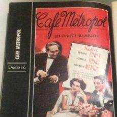 Cine: 'CAFÉ METROPOL', CON TYRONE POWER. FICHA COLECCIONABLE DE REVISTA DIARIO 16.. Lote 85674932
