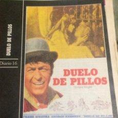 Cine: 'DUELO DE PILLOS', CON FRANK SINATRA. FICHA COLECCIONABLE DE REVISTA DIARIO 16.. Lote 85677832