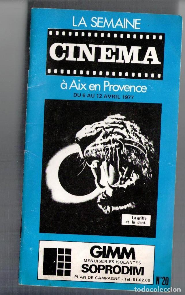 LA SEMANE CINEMA A AIX EN PROVENCE, Nº 20, 1977 (Cine - Revistas - Otros)