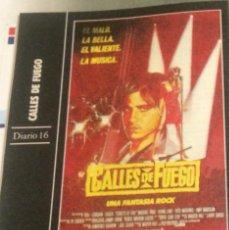 Cine: 'CALLES DE FUEGO', DE WALTER HILL. FICHA COLECCIONABLE DE REVISTA DIARIO 16.. Lote 85901536