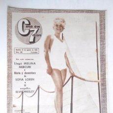 Cine: CINE EN 7 DIAS Nº 228 DEL 21-8-1965 - REPORTAJES SOFIA LOREN / ELVIS Y ANN MARGRET - VER FOTOS. Lote 86270780