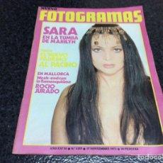 Cine: FOTOGRAMAS Nº 1257 NOVIEMBRE 1972 - SARA MONTIEL / AL PACINO / POSTER: ROCIO JURADO. Lote 120787544