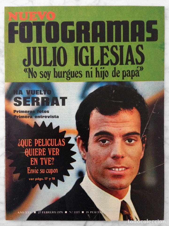 REVISTA FOTOGRAMAS - Nº 1115 - 1970 - JULIO IGLESIAS, JOAN MANUEL SERRAT, EMMA COHEN. MIKE KENNEDY (Cine - Revistas - Fotogramas)