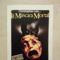 Cinéma: REPRODUCCION -9*13- LA MASCARA MORTAL - CHRISTOPHER LEE - TERROR . Lote 86968856
