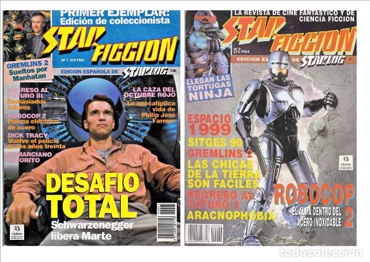 REVISTAS DE CINE FANTASTICO Y CIENCIA FICCION STAR FICCION Nº 1 Y 2 (Cine - Revistas - Star Ficcion)