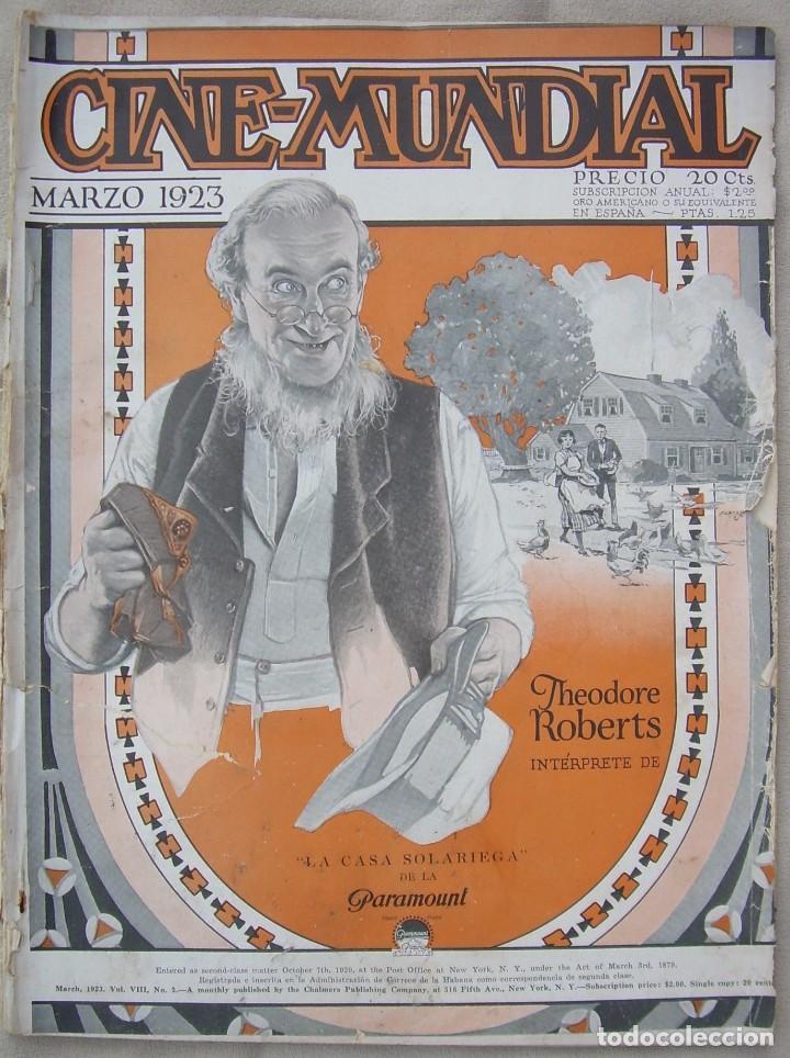 REVISTA CINE MUNDIAL,MARZO 1923, TOMO VIII Nº 3 EDITADA POR CHALMERS PUBLISHING COMPANY, NUEVA YORK (Cine - Revistas - Cine Mundial)