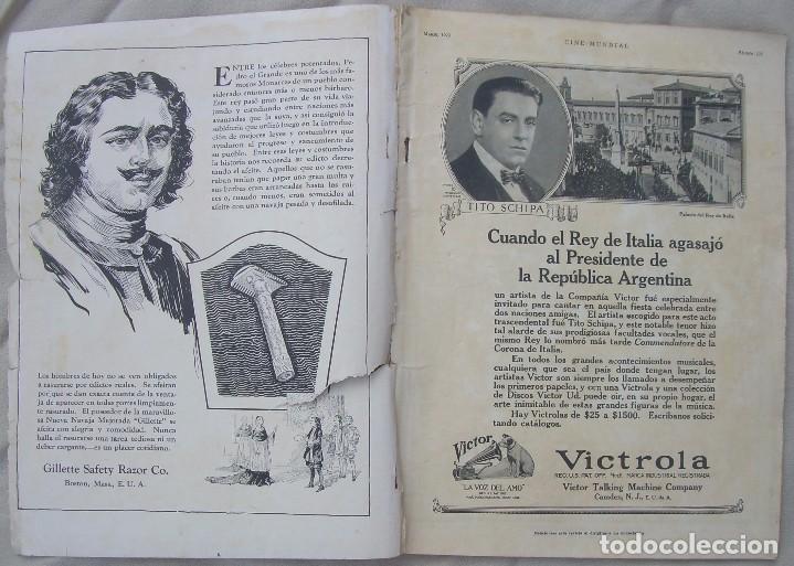 Cine: REVISTA CINE MUNDIAL,MARZO 1923, TOMO VIII Nº 3 EDITADA POR Chalmers Publishing Company, Nueva York - Foto 2 - 87089916