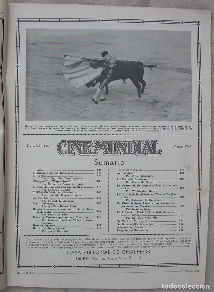 Cine: REVISTA CINE MUNDIAL,MARZO 1923, TOMO VIII Nº 3 EDITADA POR Chalmers Publishing Company, Nueva York - Foto 3 - 87089916