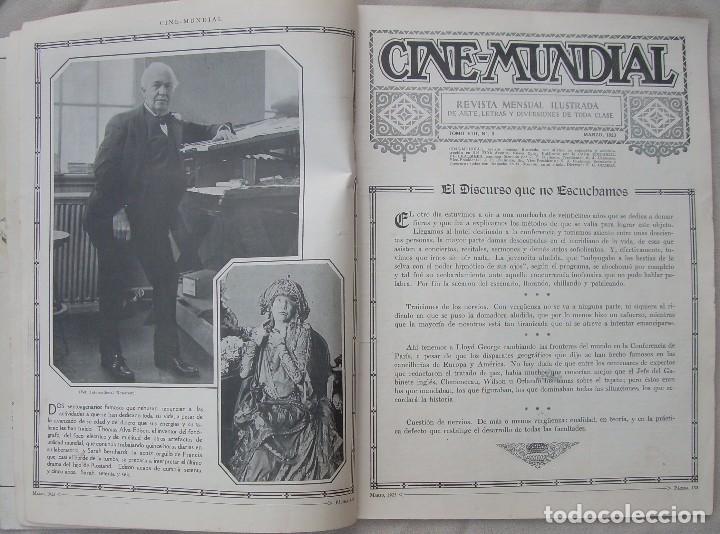 Cine: REVISTA CINE MUNDIAL,MARZO 1923, TOMO VIII Nº 3 EDITADA POR Chalmers Publishing Company, Nueva York - Foto 4 - 87089916