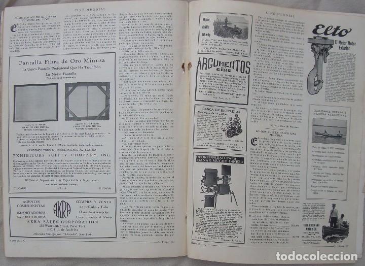 Cine: REVISTA CINE MUNDIAL,MARZO 1923, TOMO VIII Nº 3 EDITADA POR Chalmers Publishing Company, Nueva York - Foto 14 - 87089916