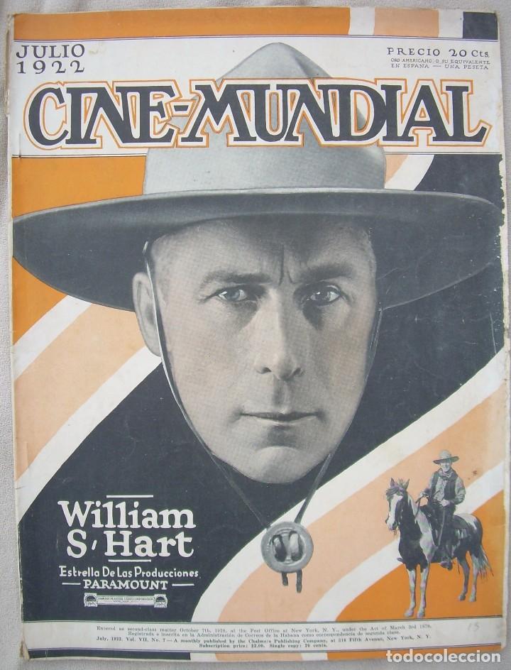 REVISTA CINE MUNDIAL,JULIO 1922, TOMO VII Nº 7 EDITADA POR CHALMERS PUBLISHING COMPANY, NUEVA YORK (Cine - Revistas - Cine Mundial)