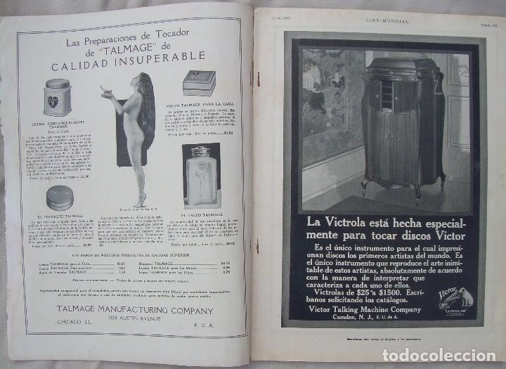 Cine: REVISTA CINE MUNDIAL,JULIO 1922, TOMO VII Nº 7 EDITADA POR Chalmers Publishing Company, Nueva York - Foto 2 - 87094372