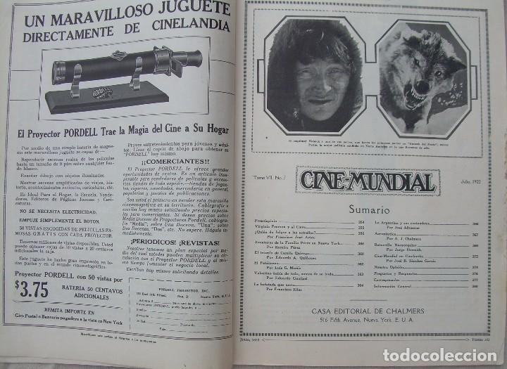 Cine: REVISTA CINE MUNDIAL,JULIO 1922, TOMO VII Nº 7 EDITADA POR Chalmers Publishing Company, Nueva York - Foto 3 - 87094372