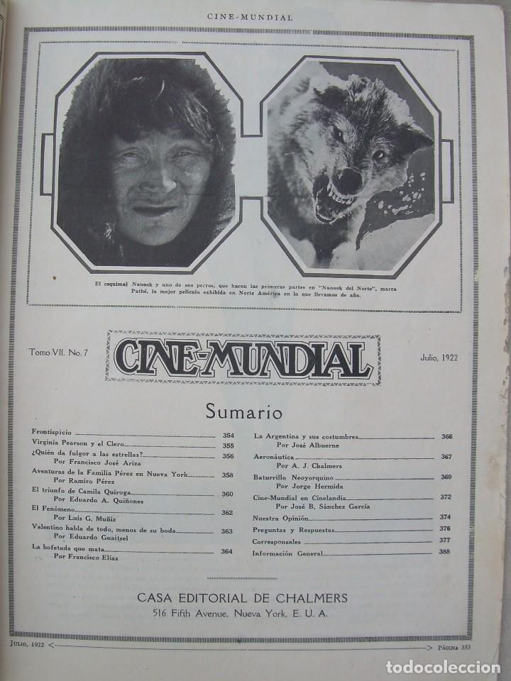 Cine: REVISTA CINE MUNDIAL,JULIO 1922, TOMO VII Nº 7 EDITADA POR Chalmers Publishing Company, Nueva York - Foto 4 - 87094372