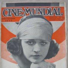 Cine: REVISTA CINE MUNDIAL,DICIEMBRE 1922, TOMO VII Nº 12 ED. POR CHALMERS PUBLISHING COMPANY, NUEVA YORK. Lote 87095108