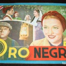 Cine: CINEVIDA - ORO NEGRO - JUAN DE LANDA, CARLA CANDIANI . Lote 87324920