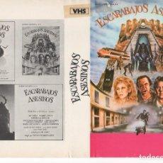 Cine: CARATULA ORIGINAL TAMAÑO A4 - ESCARABAJOS ASESINOS. Lote 87356720