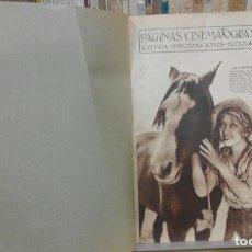 Cine: REVISTA PÁGINAS CINEMATOGRÁFICAS (AÑO 1933). 47 NÚMEROS (1 VOLUMEN). Lote 87617676