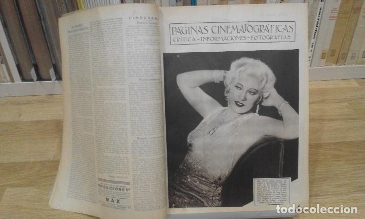 Cine: REVISTA PÁGINAS CINEMATOGRÁFICAS (AÑO 1933). 47 NÚMEROS (1 VOLUMEN) - Foto 4 - 87617676