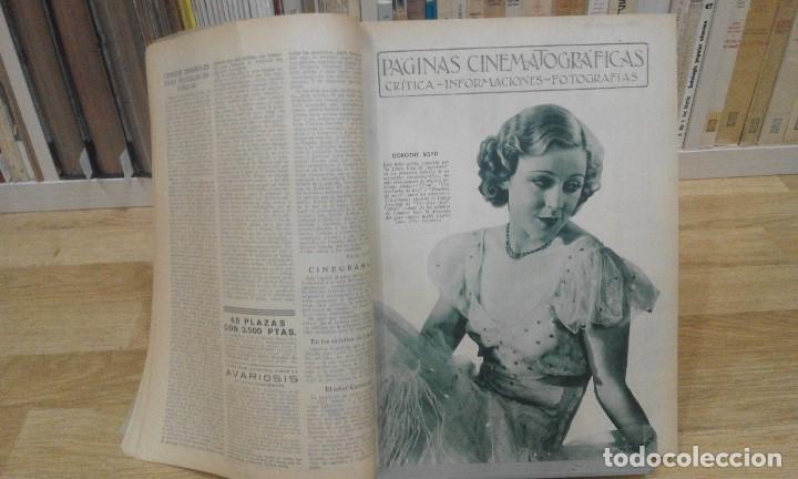 Cine: REVISTA PÁGINAS CINEMATOGRÁFICAS (AÑO 1933). 47 NÚMEROS (1 VOLUMEN) - Foto 5 - 87617676