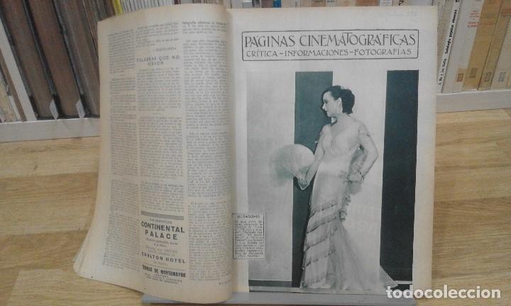Cine: REVISTA PÁGINAS CINEMATOGRÁFICAS (AÑO 1933). 47 NÚMEROS (1 VOLUMEN) - Foto 6 - 87617676