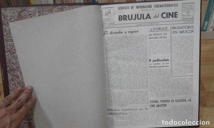 Cine: REVISTA BRÚJULA DEL CINE (AÑOS 1951 - 1952). 42 NÚMEROS (1 VOLUMEN) - Foto 2 - 87617836