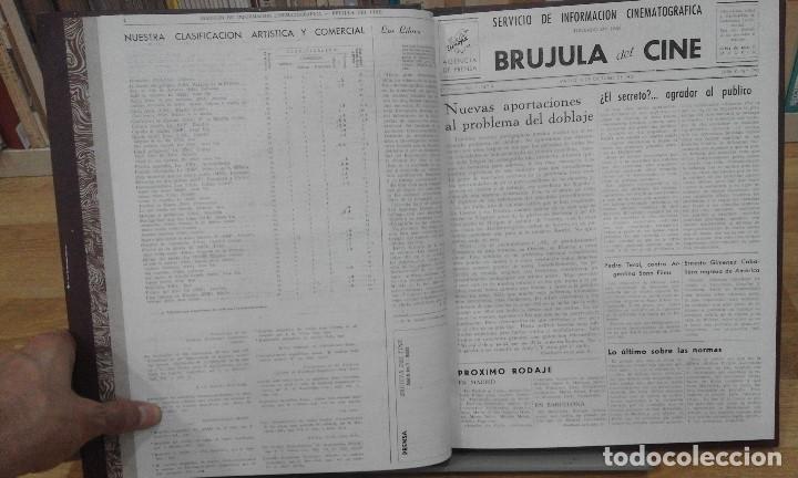 Cine: REVISTA BRÚJULA DEL CINE (AÑOS 1951 - 1952). 42 NÚMEROS (1 VOLUMEN) - Foto 4 - 87617836