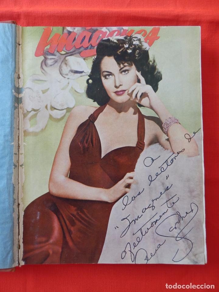 Cine: Libro 8 revistas Imagenes encuadernadas años 50 Ava Gardner Maria Felix Vivien Leigh Amparo Rivelles - Foto 2 - 87669696