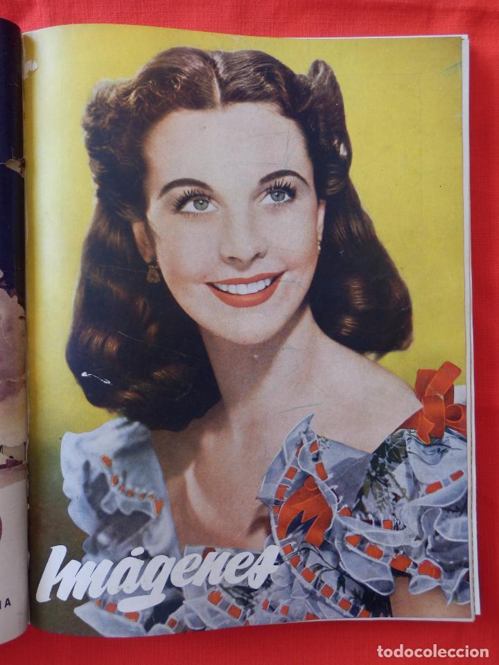 Cine: Libro 8 revistas Imagenes encuadernadas años 50 Ava Gardner Maria Felix Vivien Leigh Amparo Rivelles - Foto 5 - 87669696