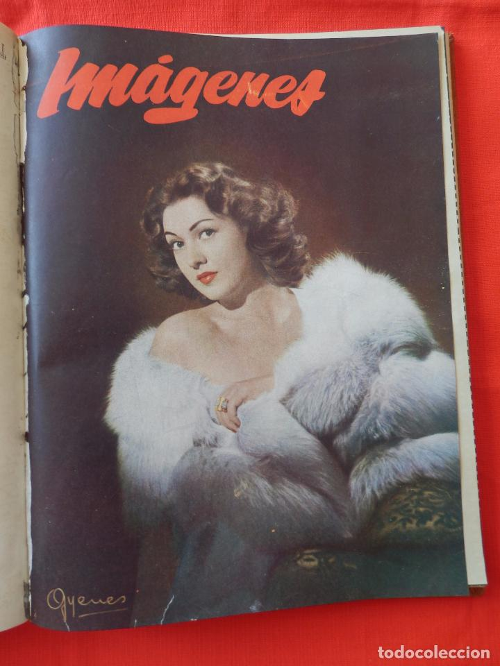 Cine: Libro 8 revistas Imagenes encuadernadas años 50 Ava Gardner Maria Felix Vivien Leigh Amparo Rivelles - Foto 6 - 87669696