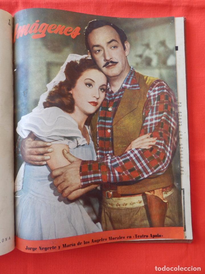Cine: Libro 8 revistas Imagenes encuadernadas años 50 Ava Gardner Maria Felix Vivien Leigh Amparo Rivelles - Foto 7 - 87669696