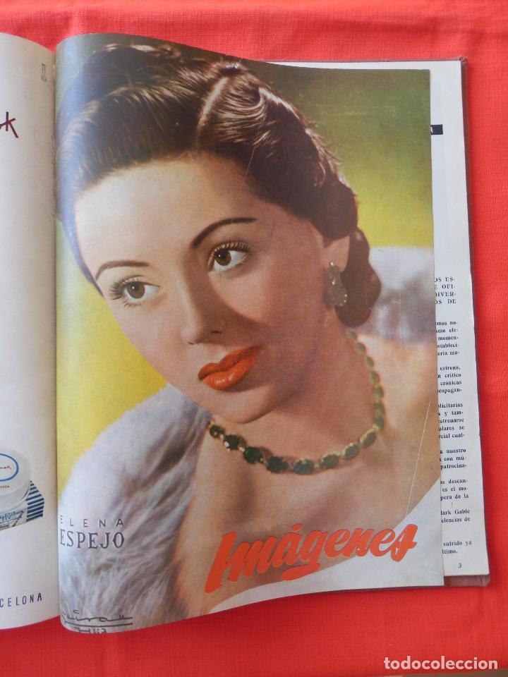 Cine: Libro 8 revistas Imagenes encuadernadas años 50 Ava Gardner Maria Felix Vivien Leigh Amparo Rivelles - Foto 8 - 87669696