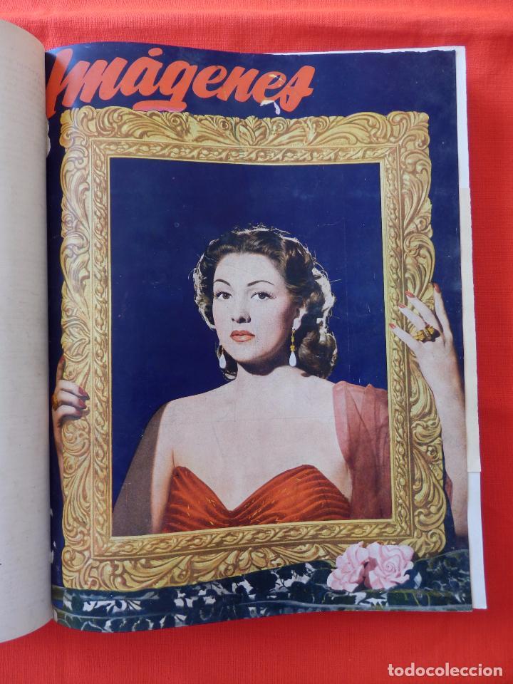 Cine: Libro 8 revistas Imagenes encuadernadas años 50 Ava Gardner Maria Felix Vivien Leigh Amparo Rivelles - Foto 14 - 87669696