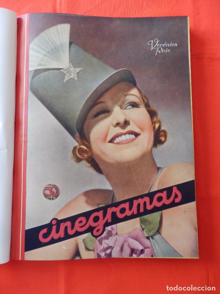 LIBRO 12 REVISTAS CINEGRAMAS ENCUADERNADAS AÑO 35 IMPECABLES (Cine - Revistas - Cinegramas)