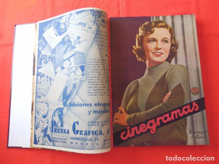 Cine: LIBRO 12 REVISTAS CINEGRAMAS ENCUADERNADAS AÑO 35 IMPECABLES - Foto 2 - 88162656