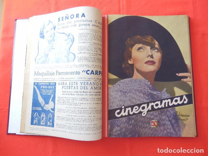 Cine: LIBRO 12 REVISTAS CINEGRAMAS ENCUADERNADAS AÑO 35 IMPECABLES - Foto 5 - 88162656