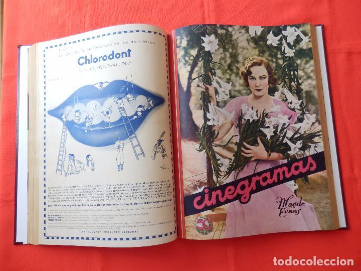 Cine: LIBRO 12 REVISTAS CINEGRAMAS ENCUADERNADAS AÑO 35 IMPECABLES - Foto 7 - 88162656