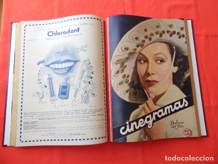 Cine: LIBRO 12 REVISTAS CINEGRAMAS ENCUADERNADAS AÑO 35 IMPECABLES - Foto 8 - 88162656