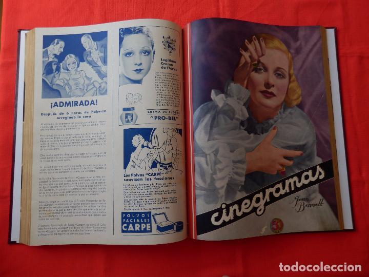 Cine: LIBRO 12 REVISTAS CINEGRAMAS ENCUADERNADAS AÑO 35 IMPECABLES - Foto 9 - 88162656