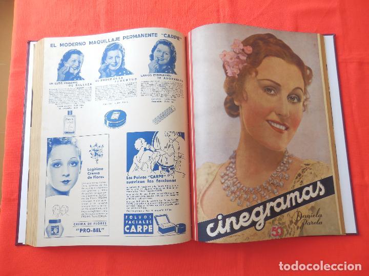 Cine: LIBRO 12 REVISTAS CINEGRAMAS ENCUADERNADAS AÑO 35 IMPECABLES - Foto 10 - 88162656