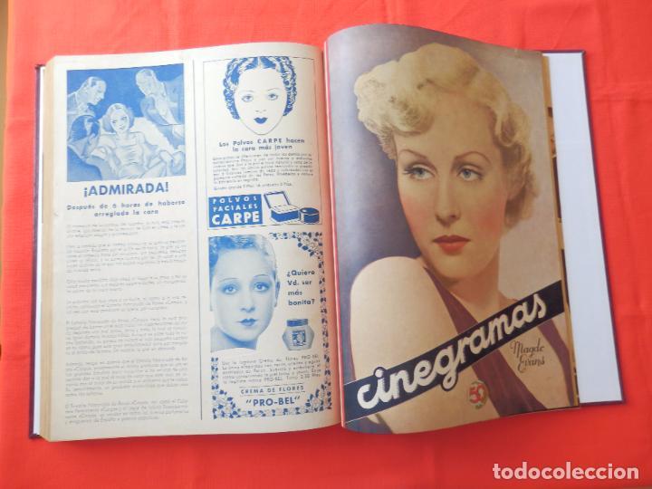 Cine: LIBRO 12 REVISTAS CINEGRAMAS ENCUADERNADAS AÑO 35 IMPECABLES - Foto 12 - 88162656