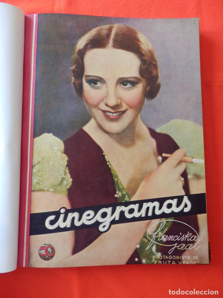 LIBRO 12 REVISTAS CINEGRAMAS ENCUADERNADAS AÑOS 34/35 IMPECABLES GRETA GARBO GARY COOPPER DIETRICH.. (Cine - Revistas - Cinegramas)